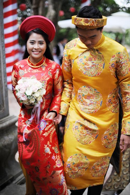 vải áo dài cưới hỏi